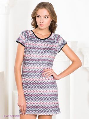 Платье MELANY. Цвет: серый, розовый