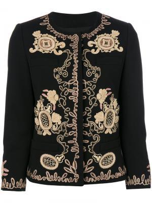 Пиджак с вышивкой металлик Dondup. Цвет: чёрный