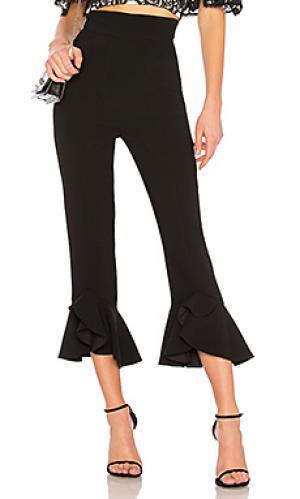 Укороченные брюки NICHOLAS. Цвет: черный