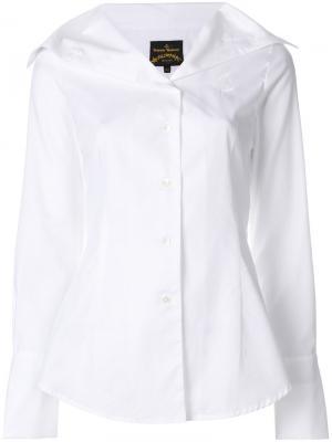 Рубашка с большим воротником Vivienne Westwood. Цвет: белый