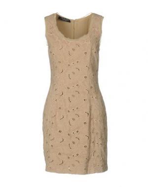 Короткое платье LOVE SEX MONEY. Цвет: песочный