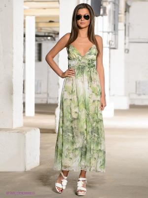 Платье TOM FARR. Цвет: зеленый, молочный