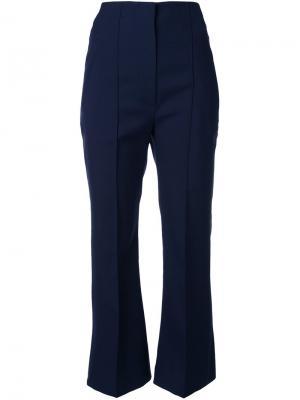 Укороченные расклешенные брюки Roksanda. Цвет: синий
