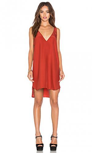 Платье vita Amanda Uprichard. Цвет: ржавый