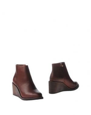 Полусапоги и высокие ботинки F-TROUPE. Цвет: какао