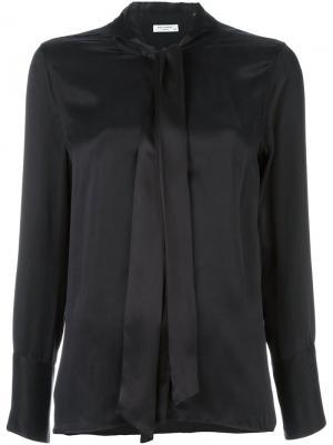 Блузка с завязками на шее Equipment. Цвет: чёрный