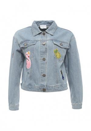 Куртка джинсовая Compania Fantastica. Цвет: голубой