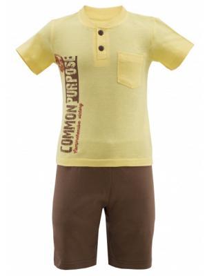 Комплект одежды РОССИЙСКИЙ ТРИКОТАЖ. Цвет: коричневый, желтый