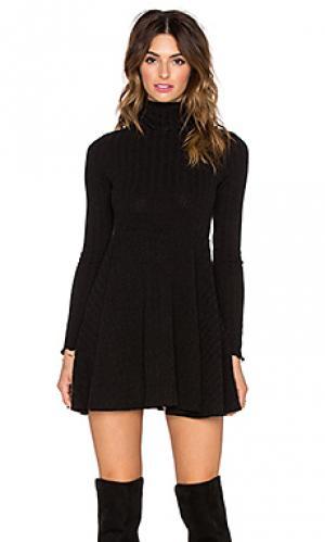 Платье свитер alexander Otis & Maclain. Цвет: черный