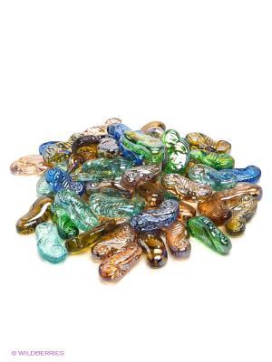 Набор декоративных камешков Черепашка/Морской конек EL CASA. Цвет: синий, зеленый, коричневый, прозрачный, оранжевый
