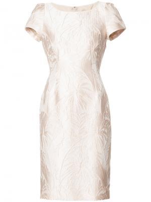 Платье с короткими рукавами Paule Ka. Цвет: розовый и фиолетовый