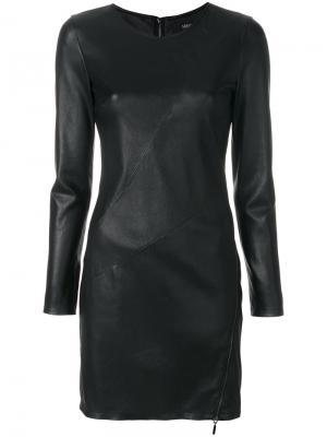 Текстурное платье Arma. Цвет: чёрный