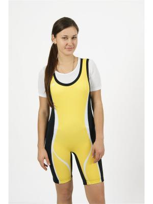 Комбинезон для пауэрлифтинга и фитнеса CROSS sport. Цвет: желтый