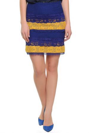Юбка Love Moschino. Цвет: синий, желтый