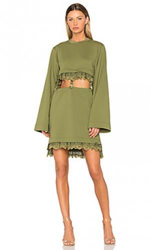 Платье кимоно с подтяжками Fenty by Puma. Цвет: зеленый