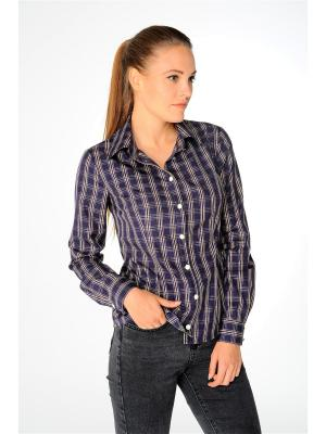 Рубашка Katerina Bleska&Tamara Savin. Цвет: темно-коричневый, темно-бежевый, темно-фиолетовый