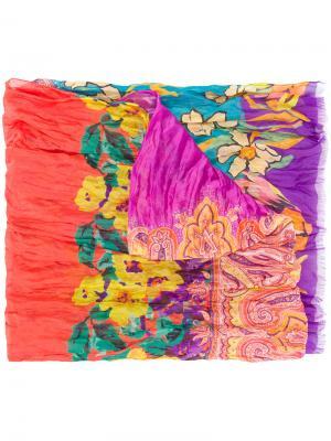 Платок с узором пейсли Etro. Цвет: многоцветный