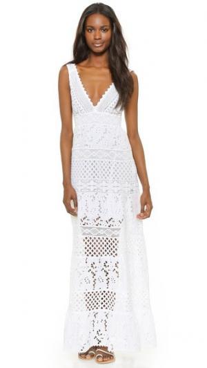 Длинное платье без рукавов Temptation Positano. Цвет: желтый