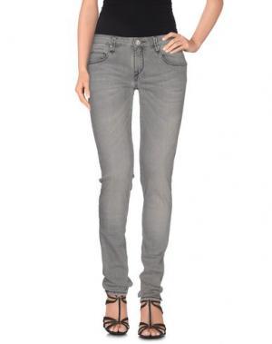 Джинсовые брюки ACHT. Цвет: серый