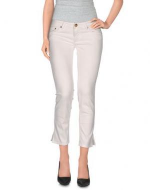 Повседневные брюки MISS BORSALINO. Цвет: белый