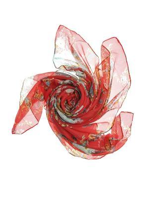 Платок Migura. Цвет: красный, бирюзовый, желтый, серый