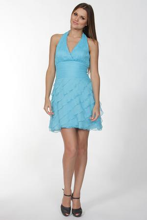 Платье Olinvnas. Цвет: голубой