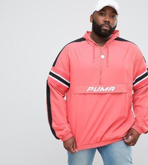 Puma Розовая ветровка PLUS эксклюзивно для ASOS. Цвет: розовый