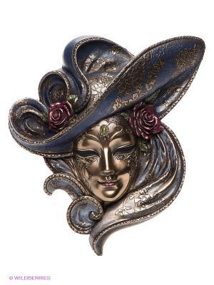 Венецианская маска Розы Veronese. Цвет: бронзовый