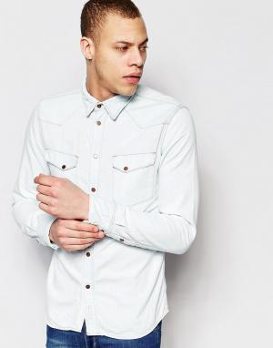 Nudie Jeans Джинсовая рубашка классического кроя Jonis. Цвет: синий