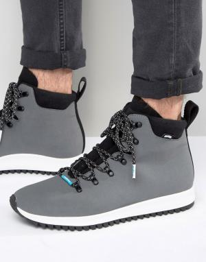 Native Ботинки на шнуровке AP Apex. Цвет: серый
