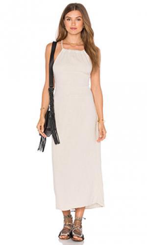 Платье LACAUSA. Цвет: беж