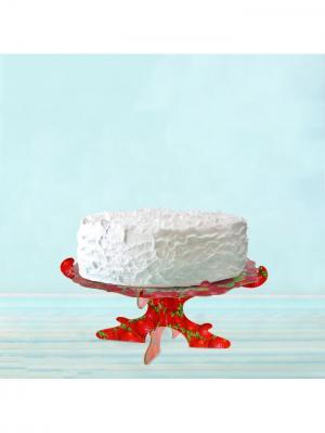 Подставка для торта и пирожных А М Дизайн. Цвет: красный