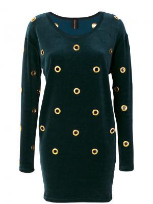 Платье с люверсами Alexandre Vauthier. Цвет: зелёный