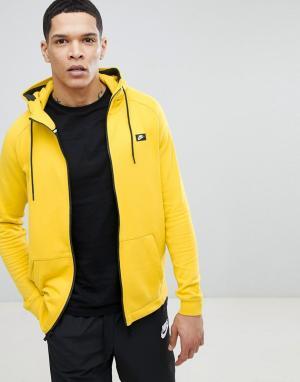Nike Худи желтого цвета на молнии Modern 805130-713. Цвет: желтый
