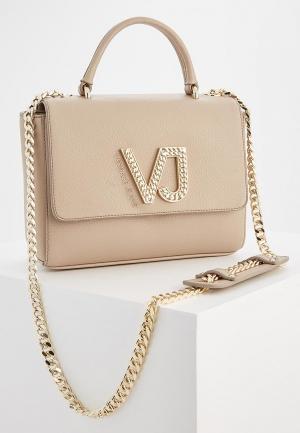 Сумка Versace Jeans. Цвет: бежевый