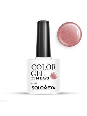 Гель-лак Color Gel Тон Cappuccino SCG155/Капучино SOLOMEYA. Цвет: светло-коричневый