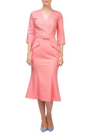 Платье Sassofono. Цвет: розовый