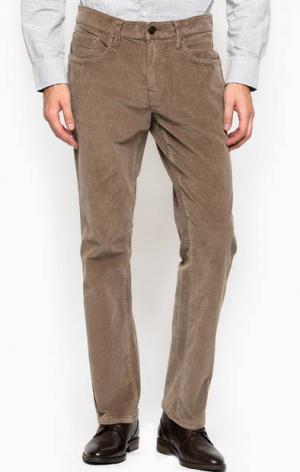 Коричневые зауженные вельветовые брюки Mavi. Цвет: коричневый