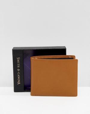 Smith And Canova Кожаный бумажник желтовато-коричневого цвета. Цвет: рыжий