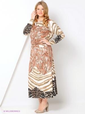 Платье МадаМ Т. Цвет: рыжий, коричневый