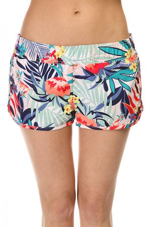 Шорты пляжные женские  Love Bs Canary Islands Floral Roxy. Цвет: белый,мультиколор