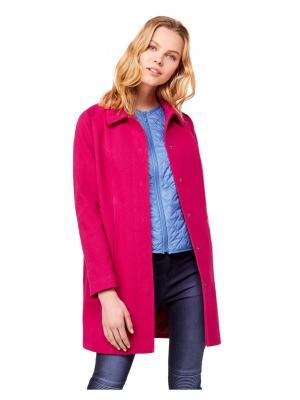 Пальто United Colors of Benetton. Цвет: малиновый