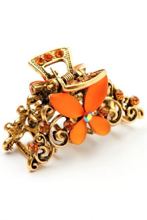 Заколка винтажная FRANSUA ARDY. Цвет: оранжевый