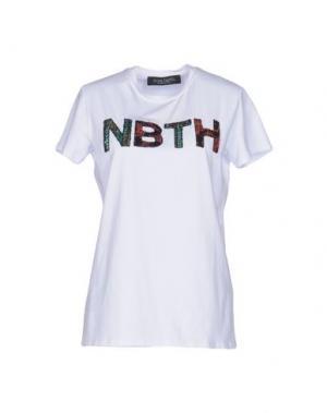 Футболка NORA BARTH. Цвет: белый