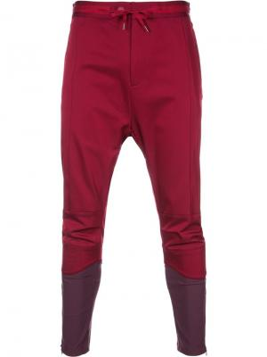 YK Biker trousers Yoshio Kubo. Цвет: розовый и фиолетовый