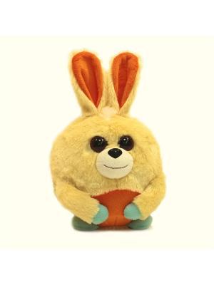 Мягкая игрушка шарик Зайка, Malvina. Цвет: желтый