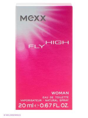 Туалетная вода Fly High, 20 мл MEXX. Цвет: розовый, серебристый