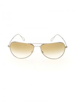 Солнцезащитные очки Matt Isabel Marant For Oliver Peoples. Цвет: жёлтый и оранжевый