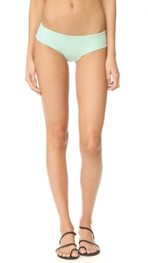Однотонные плавки бикини Джемма Tori Praver Swimwear. Цвет: патина