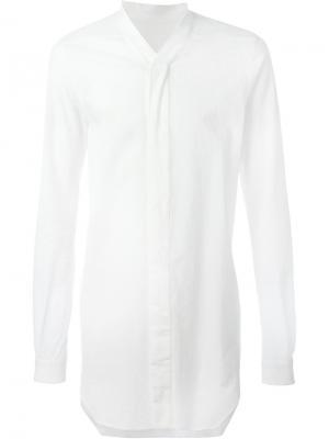 Рубашка с мятым эффектом Rick Owens. Цвет: белый